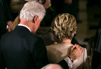 Hillary Clinton Is Stoic - or at the wrong place